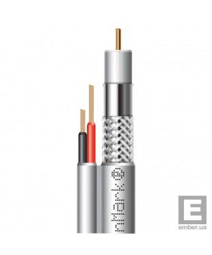 Абонентский коаксиальный кабель F 5967BVcu white-2x0.75power FinMark 50м