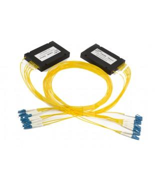 Мультиплексор/Демультиплексор CWDM-BiDi-04-08wave2-2.0-1m-LC, 4 канала по одному волокну, 8 длин волн
