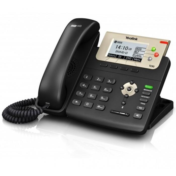 SIP-T23G, 3 аккаунта, BLF, PoE, GigE