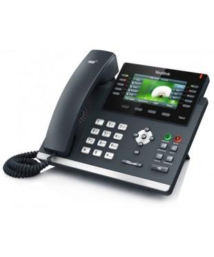 Телефон SIP-T46G -цветной экран, 16 аккаунтов, BLF, PoE, GigE