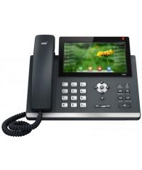 Телефон SIP-T48S, цветной сенсорный экран, 16 аккаунтов, BLF,  PoE, GigE