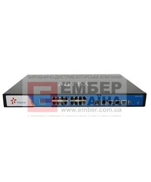 YEASTAR MyPBX U510, IP-АТС, 1U, 1*E1, 16*RJ11, поддержка FXO, FXS, GSM, BRI, UMTS