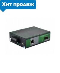 Индустриальный POE медиаконвертор FoxGate ECi-SFP1000-FE/GE-POE