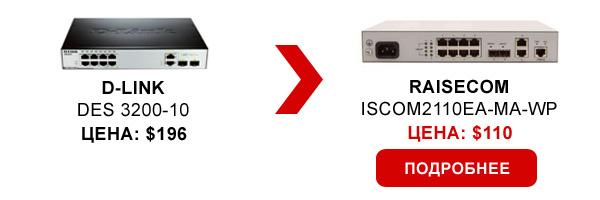 Управляемый коммутатор доступа Raisecom ISCOM2110EA-MA-WP
